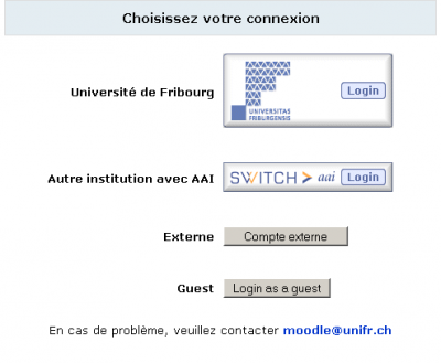 UniversitedeFribourgMoodleLogin